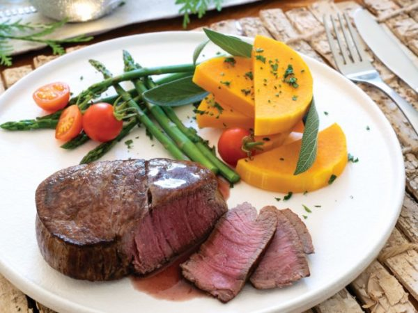 Seared Venison Tenderloin with Sage and Red Wine Sauce